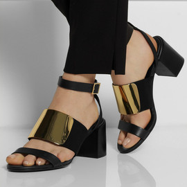 SEE BY CHLOÉ - Metallic and leather sandals