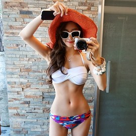 LUXE ASIAN - Luxe Asian Korean Women Fashion Tropical White Bikini