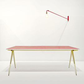 Jean Prouve - rare red-top table, ca 1953