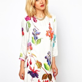 asos - Botanical Print Shift Dress