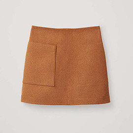 COS - wool mini skirt in orange