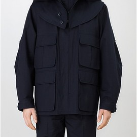 LEMAIRE - PARKA WATER-REPELLENT COTTON-LINEN WOVEN IN ITALY  MIDNIGHT BLUE