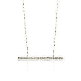 hirotaka - Gossamer Diamond Bar Necklace