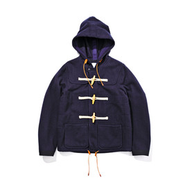 WHITE MOUNTAINEERING - WOOL FLANNEL SHORT DUFFLE COAT