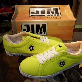 "airwalk - 「<deadstock>90's airwalk JIM TENNIS neon yellow""made in KOREA"" W/BOX ize:US7(25cm) 9800yen」完売"