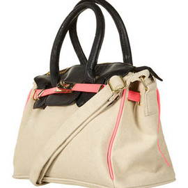 TOPSHOP - Fluroescent Trim Canvas Bag