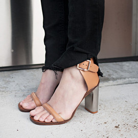 CELINE - Metal heel sandals