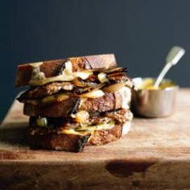 donna hay - veal, mustard and pickle toasties