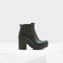 HUNTER - Original Block Heel Chelsea Boots