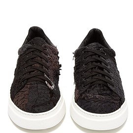 BY WALID - 19th-century panelled low-top trainers