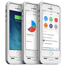 FOCAL POINT - mophie space pack Built-in storage battery case for iPhone 5s/5