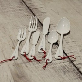 on the sunny side of the street - 琺瑯 cutlery