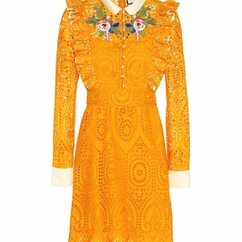 GUCCI - Resort2017 Embroidered broderie anglaise dress