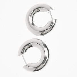 allblues - almost earrings large silver