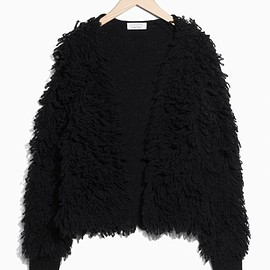 &Other Stories - Shaggy Wool-Blend Knit in Black