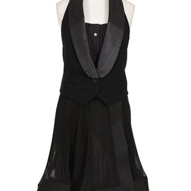 sacai - Black Tuxedo Dress
