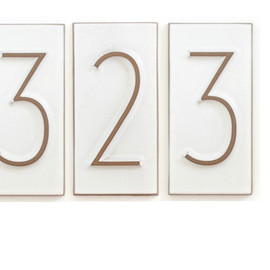Heath Ceramics - House Number Neutra
