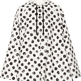 DOLCE&GABBANA - Cape-style polka-dot shell jacket