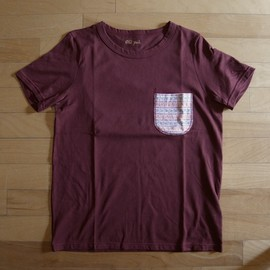 "Old Park - Pajama Pocket Tee ""Maroon"""