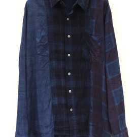 "NEEDLES - Rebuild By NEEDLES""Amamizome 3 Panels Shirt"