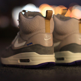 Nike - WMNS Air Max 1 Mid SneakerBoot - Pewter/White/Violet