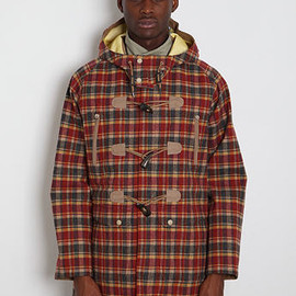 WHITE MOUNTAINEERING - GORETEX CHECK DUFFLE COAT