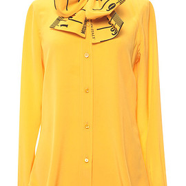 MOSCHINO - Pre-Fall 2015 Measuring Tape Blouse With Bow