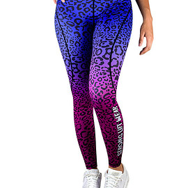 strong lift wear - FUSION COMPRESSION PANT - BLUE LEOPARD