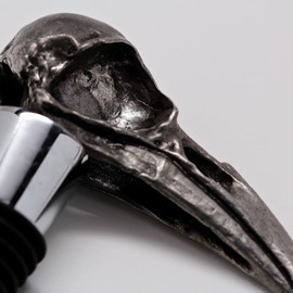 billyblue22 - Metal Crow Skull Bottle Stopper