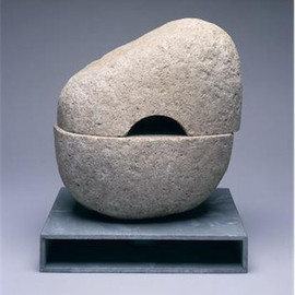 Isamu Noguchi / イサムノグチ - Untitled(無題)Aji granite, hot-dipped galvanized steel