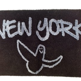 SECOND LAB., Mark Gonzales - GONZ NY RUG by Mark Gonzales (BLACK × GRAY)