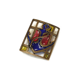 KAPITAL - Stained grass Brooch (anchor)