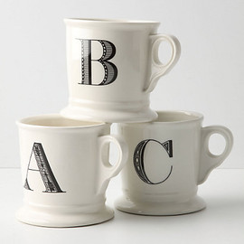 Anthropologie - Monogrammed Mugs