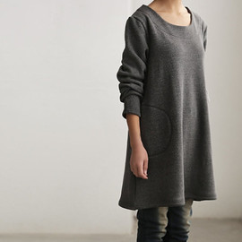 shirt - simple warmth Dress bottoming shirt gown
