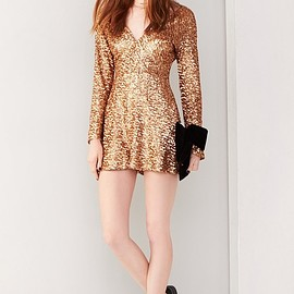 Dress the Population - Dress the Population Bianca Sequin Romper