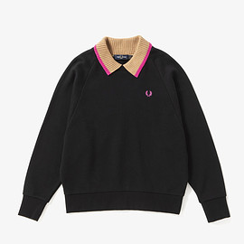 FRED PERRY - Knitted Collar Sweatshirt