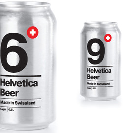 A student work for British Higher School of Art and Design - Helvetica Beer