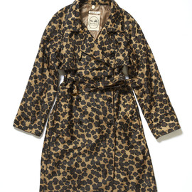 MUVEIL - Leopard Pattern Nylon Trench Coat
