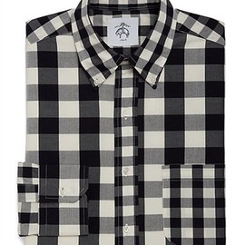 BLACK FLEECE BY Brooks Brothers - Gingham Check Broadcloth Button-Down Fun Shirt