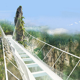 中国 - Zhangjiajie glass bottom bridge
