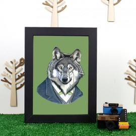 Made590 - Ryan Berkley Wolf Framed Print