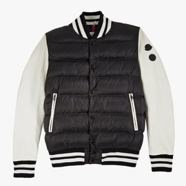 MONCLER - Jay Z x Moncler Leater Sleeve Puffer Varsity Jacket