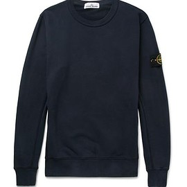 Stone Island - Slim-Fit Fleece-Back Cotton-Jersey Sweatshirt