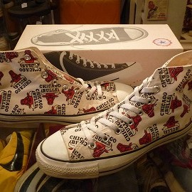 "converse - 「<used>'93 converse ALLSTAR NBA HI bulls""made in USA"" W/BOX size:US8/h(27cm) 8000yen」販売中"