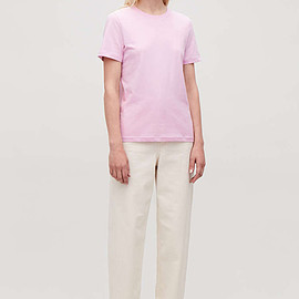 COS - cotton t-shirt in pink