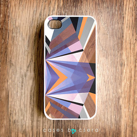 cases by csera - Unique iPhone Case Wood iPhone 4 Case iPhone Case iPhone 4 Cover Case Geometric Case Accessories iPhone Cover