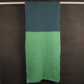 Jonathan Saunders - Chunky Knit Scarf Blue/Green