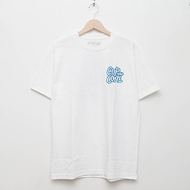 cup and cone - Logo Tee - White x Blue [Relaxed Fit]