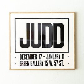 Donald Judd - Don Judd Exhibition Poster, Green Gallery, 1963