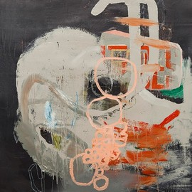 Tim Hussey - How it went down, 2013, mixed media on canvas